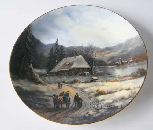 Tirschenreuth Weihnachtliche Landschaften 1989 Wand-/ Sammelteller Bradex