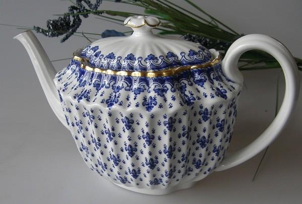 Spode Fleur De Lys, blau Teekanne 1,10 l