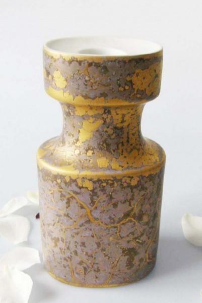 Rosenthal Goldfeuer Kerzenhalter hoch 16 cm