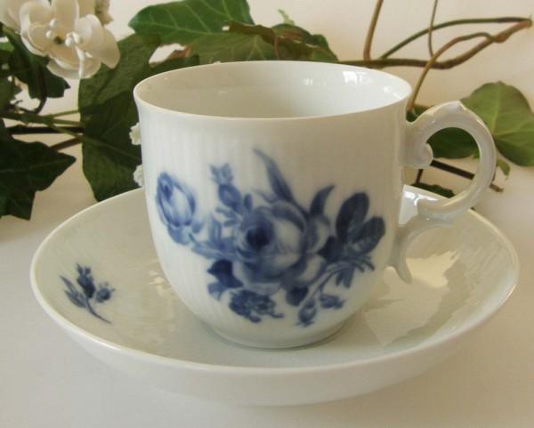 Heinrich Residenz Höchst Blaue Rose Kaffeetasse 2-tlg., Lasurpunkt