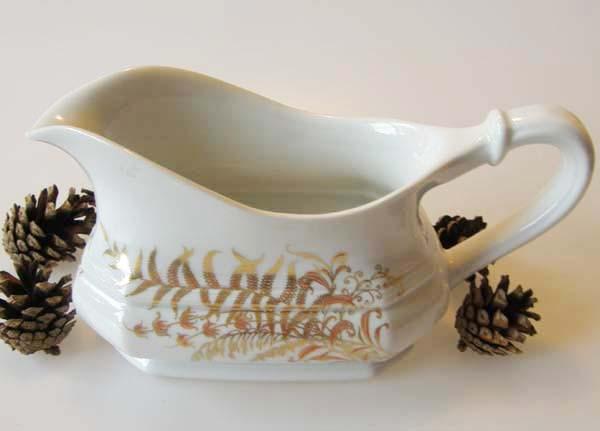 Gallo G.de Porcelaine Leonardo Fougere Goldfarn Sauciere 0,45 l