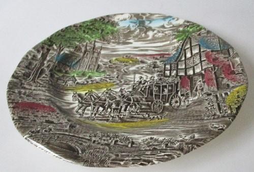 England Enoch Wedgwood Dickens Coaching Days Frühstücksteller 19,5 cm