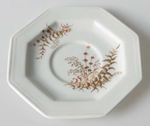 Gallo G.de Porcelaine Leonardo Fougere Goldfarn Untertasse 12,5 cm für Espressotasse