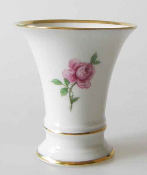 Fürstenberg Alt Fürstenberg Rote Rose Vase klein 7,8 cm