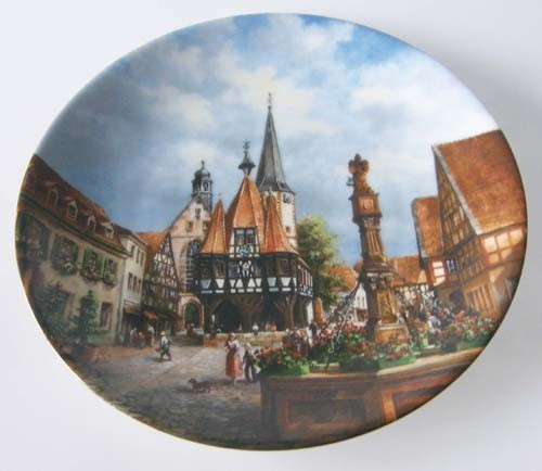 Seltmann Weiden Wand-/Sammelteller 19,5 cm Rathaus zu Michelstadt 1989