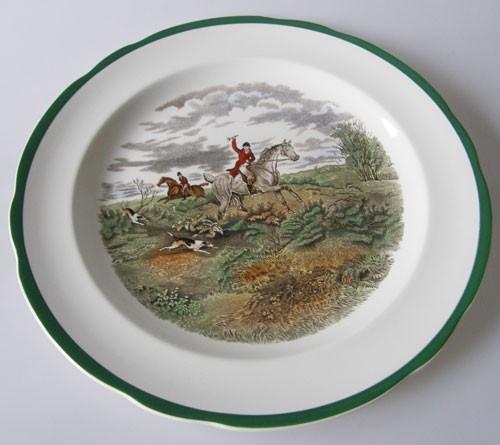 Spode The Hunt Speiseteller 26,5 cm Going To Halloa Nr.9