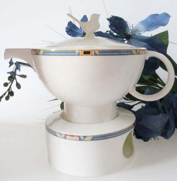 Villeroy & Boch Bari Set Teekanne mit Stövchen, 1,10 l