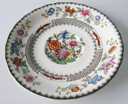 Spode Chinese Rose Untertasse für Suppentasse 16,5 cm