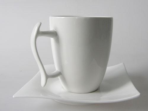 Maxwell & Williams Motion White Basics Kaffeebecher mit Untertasse
