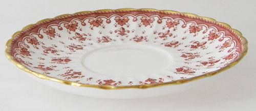 Spode Fleur De Lys rot Untertasse 14 cm für Teetasse