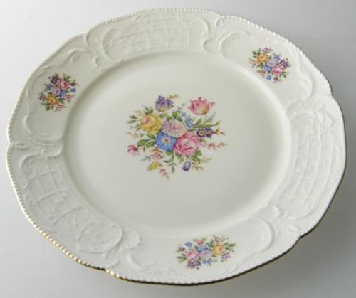 Rosenthal Sanssouci bunter Blumenstrauß elfenbein Frühstücksteller 20 cm