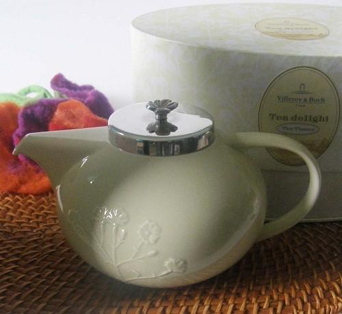 Villeroy & Boch The Tisane Teekanne mit Deckel versilbert
