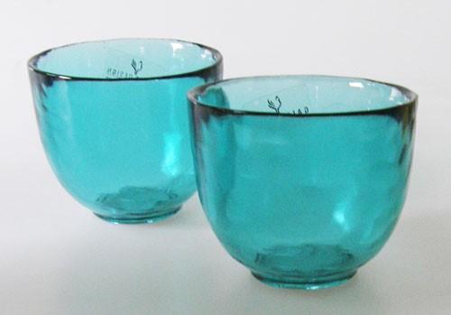 Glas Teelichthalter Gallo Design türkisblau 2 Stück Höhe 6,5 cm Villeroy & Boch Group