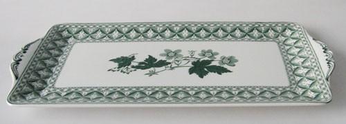Spode Geranium grün Kuchenplatte lang 34 cm