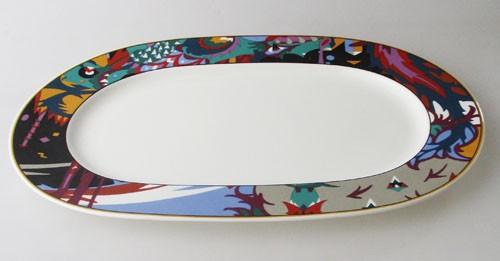 Villeroy & Boch Heinrich Thunderbird Platte oval 34,5x23 cm gebr.