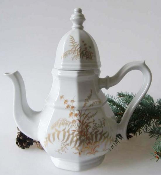 Gallo G.de Porcelaine Leonardo Fougere Goldfarn Kaffeekanne für 6 Pers. 1,30 l