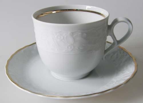 Mitterteich Princess Gold Exclusiv Kaffeetasse mit Untertasse