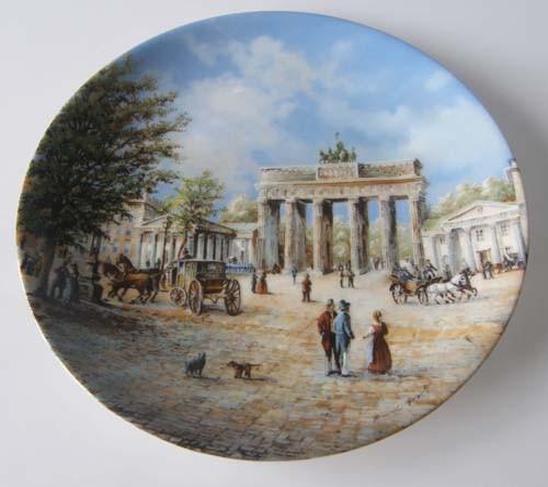 """Seltmann Weiden Wand-/Sammelteller 19,5 cm """"Berühmte deutsche Stadttore"""" Das Brandenburger Tor 1991"""