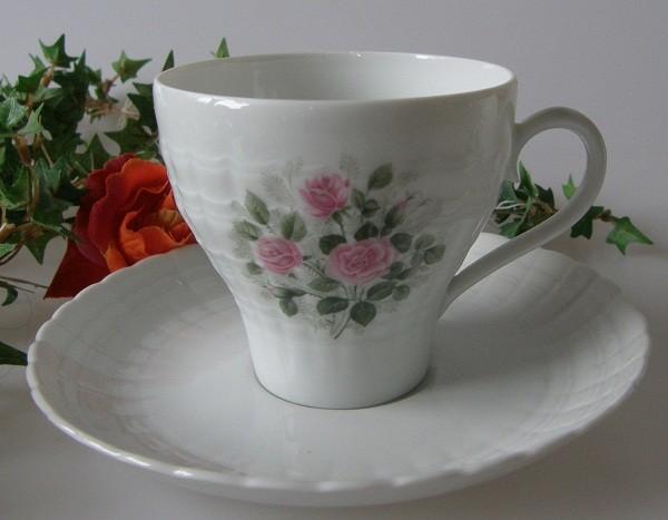 Hutschenreuther Poesie Rosendekor Kaffeetasse mit Untertasse