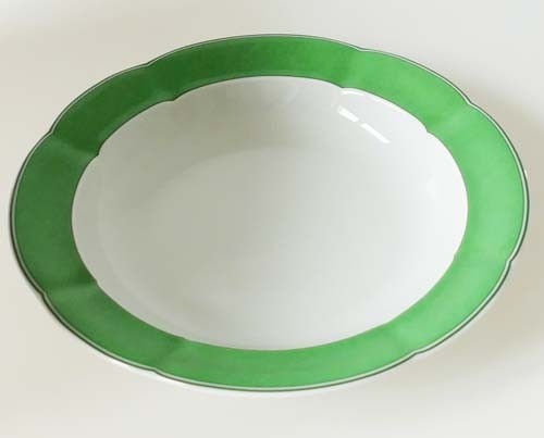 TCM Tchibo Suppenteller Ø 22,5 cm Randdekor dunkelgrün