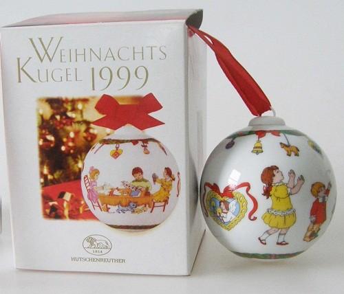 Hutschenreuther Porzellan Weihnachtskugel Bastelstube 1999