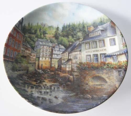 Seltmann Weiden Wand-/Sammelteller 19,5 cm Rotes Haus zu Monschau 1989