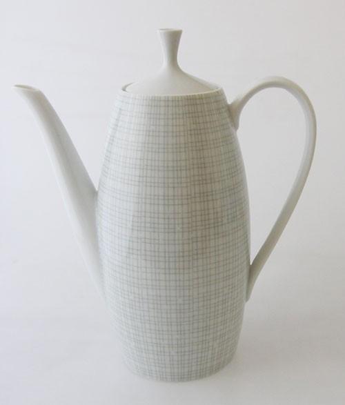 Arzberg Bastdekor Form 2025 grau-grün Filigran Kaffeekanne 1,30 l