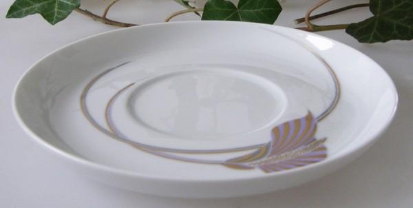 Rosenthal Asimmetria Goldblume Untertasse 14,5 cm Kaffeeuntertasse
