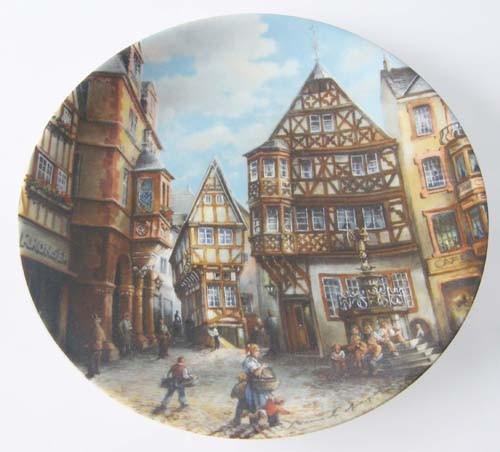Seltmann Weiden Wand-/Sammelteller 19,5 cm Marktplatz zu Bernkastel-Kues 1989