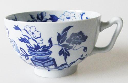 Spode Copeland Blue Bowpot Teetasse