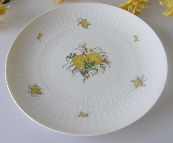 Rosenthal Romanze gelbe Rose Frühstücksteller 19,5 cm