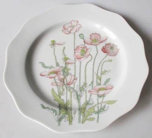 Gallo Galerie de Porcelaine Roter Mohn Frühstücksteller 21 cm