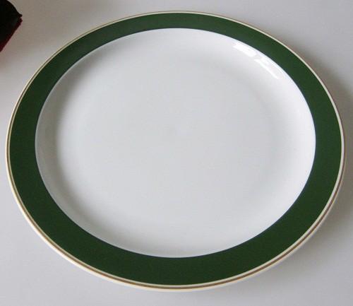 Rosenthal Duo Tonic olivgrün, goldrand Frühstücksteller 19,5 cm