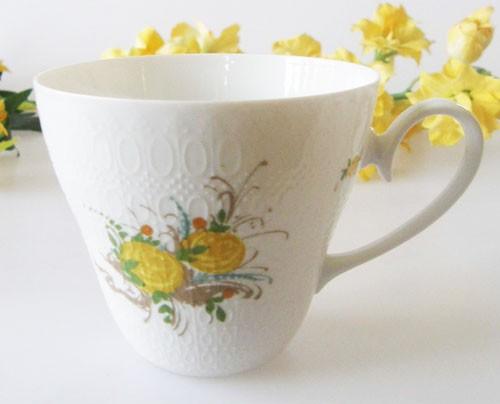 Rosenthal Romanze gelbe Rose Kaffeetasse 1tlg.