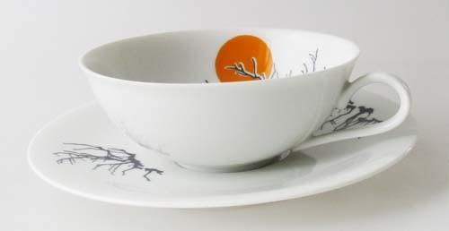 Heinrich Anmut Teetasse mit Untertasse Dekor asiatisch