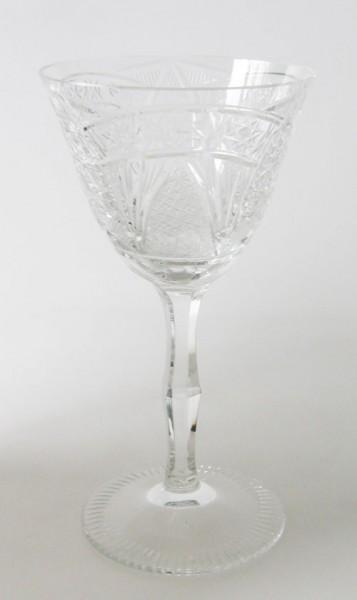Weinglas, klein Höhe 14 cm aufwendiger Schliff Meissen