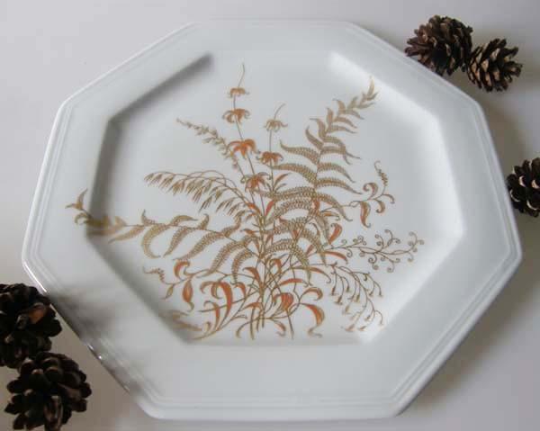 Gallo G.de Porcelaine Leonardo Fougere Goldfarn Frühstücksteller 20,5 cm