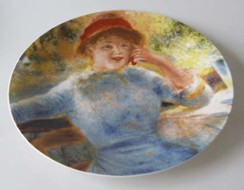 Seltmann Weiden großer Wand-/Sammelteller 27 cm Die Badeanstalt Pierre A. Renoir