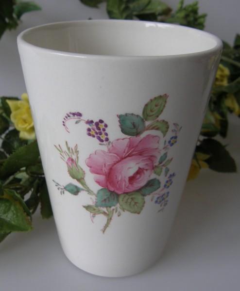 Spode Copeland Jewel Billingsley Rose Becher, hoch 10,5 cm