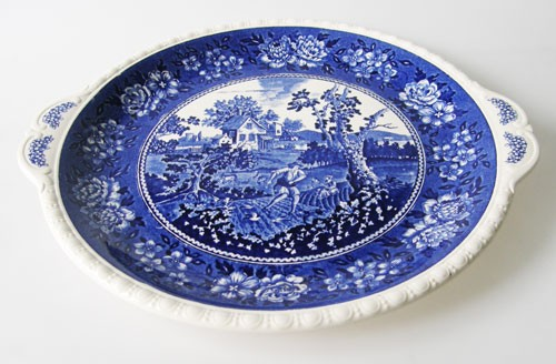 Villeroy & Boch Rusticana blau Kuchenplatte 29 cm