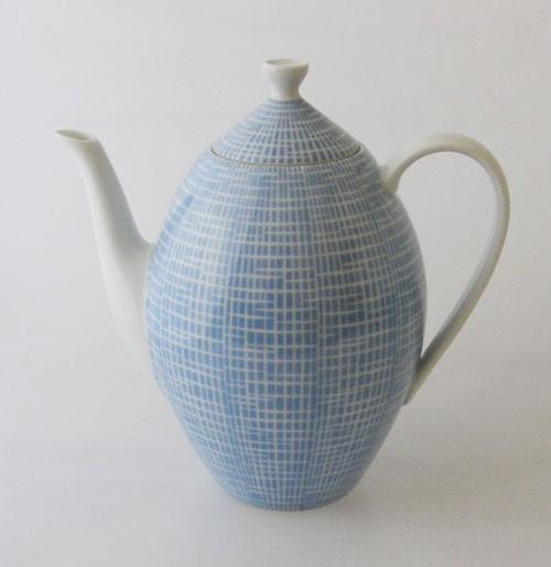 Arzberg Bastdekor 2000 Azurblau Kaffeekanne 1,40 l