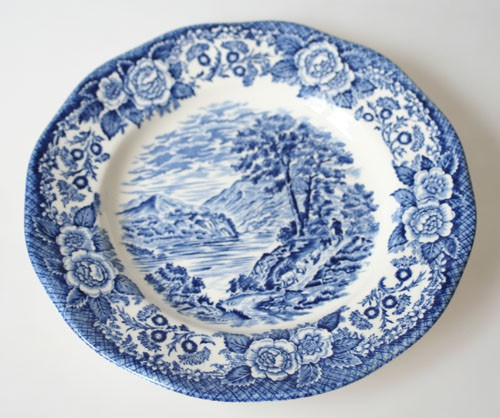 Unicorn Tableware Scottish Lochs blaue Keramik Frühstücksteller 19,5 cm