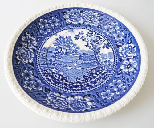 Villeroy & Boch Rusticana blau Untertasse für Suppentasse 17 cm