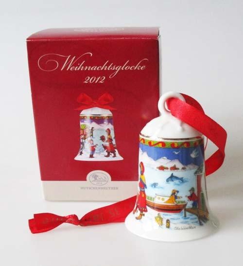 Hutschenreuther Porzellan Weihnachtsglocke Nordkap 2012 / 35 Jahre