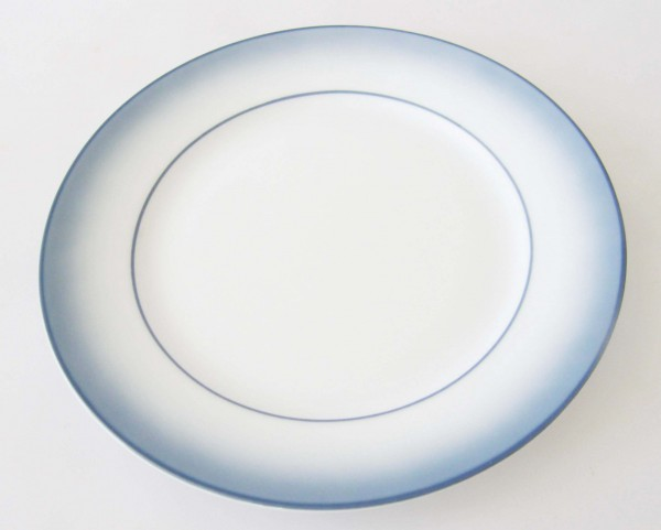 Mitterteich Form 2210 Brotteller 17 cm Randdekor blau