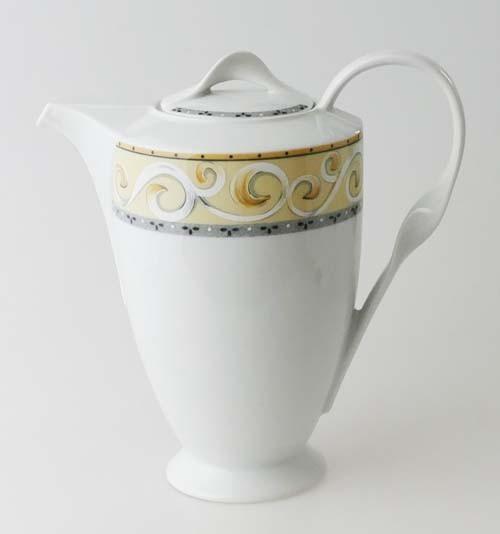 Winterling Kaffeekanne 1,30 l Ornamente gelb grau