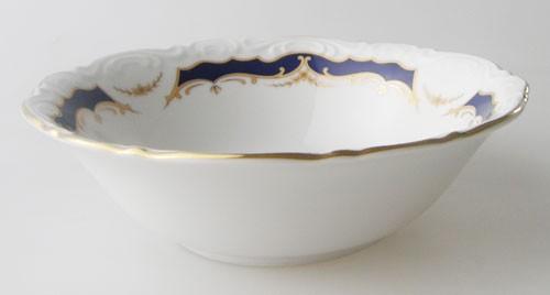 Mitterteich Form 2000 Kobalt mit Golddekor Dessert- auch Salatschälchen