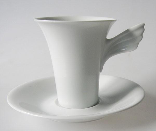 Rosenthal Mythos weiss Kaffeetasse mit Untertasse 2 tlg.