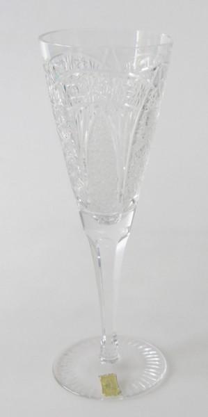 Sektglas Höhe 18,5 cm aufwendiger Schliff Meissen