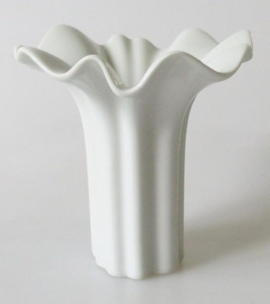 Hutschenreuther Vase weiß klein 9,5 cm